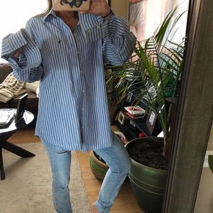 oversized abercrombie & fitch button up shirt